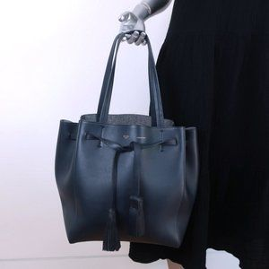 Celine Small Phantom Cabas Tote with Tassels Navy